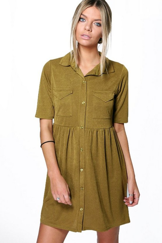Polly Shirt Pocket Dress