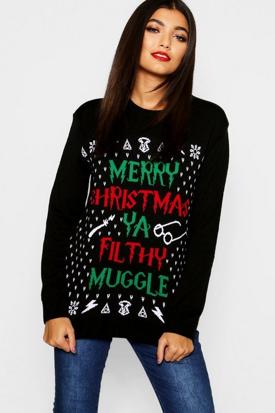 Erin Ya Filthy Muggle Christmas Jumper
