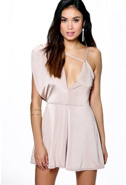 Alice Draped Skinny Playsuit