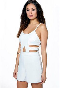 Erin Cut Work Strappy Playsuit