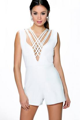 Bella Lattice Front Playsuit