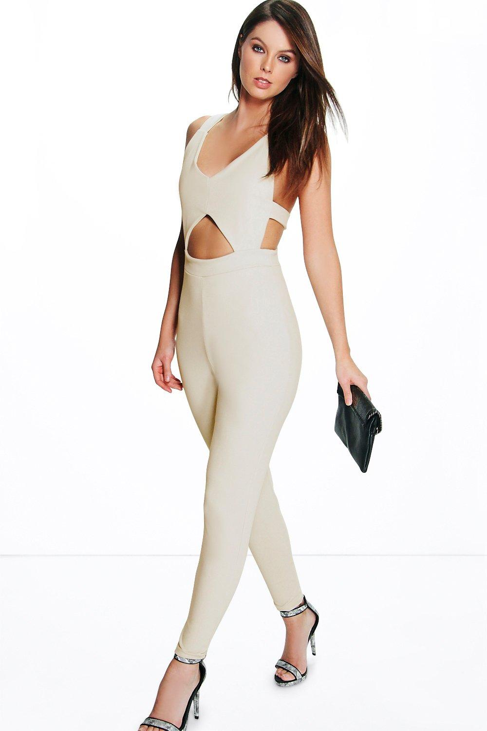Mia Strappy Cross Back Skinny Leg Jumpsuit