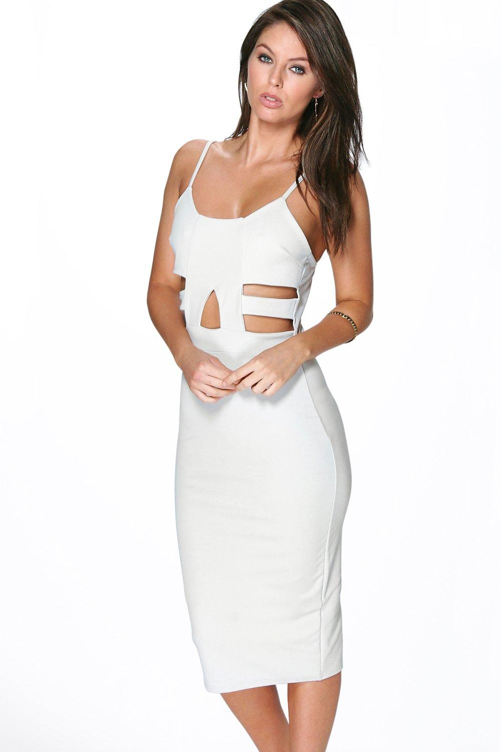 Delia Cut Out Detail Midi Bodycon Dress