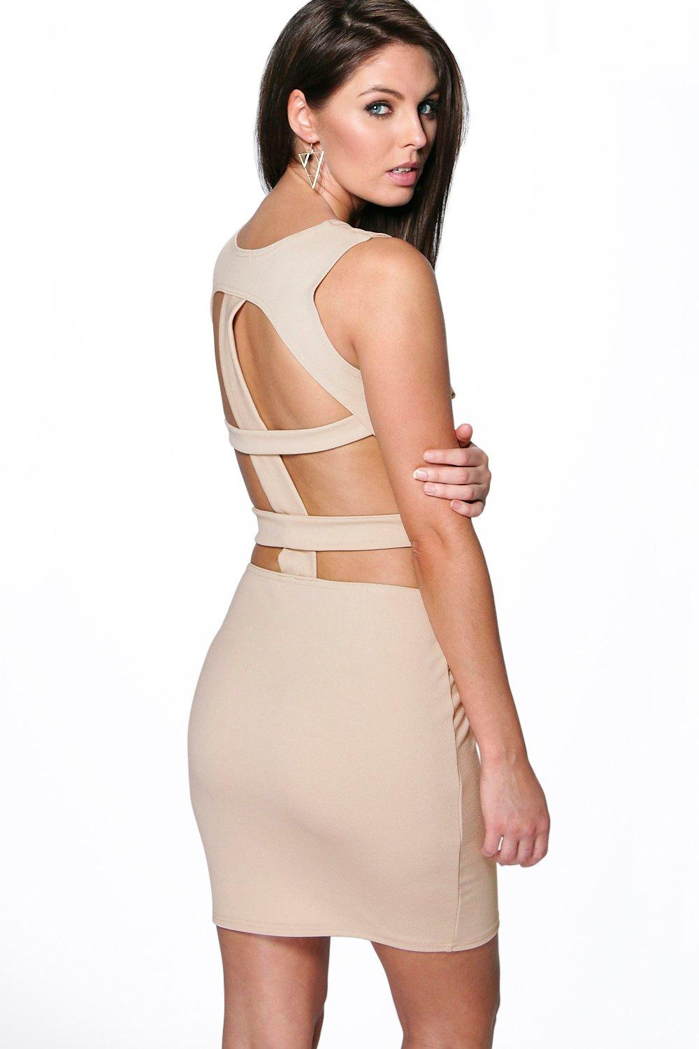 Ivy Cut Out Detail Open Back Bodycon Dress