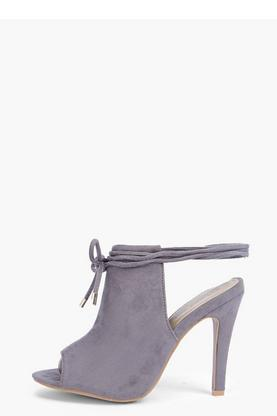 Erin Wrap Strap Peeptoe Shoe Boot