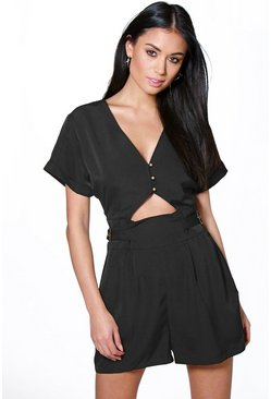 Kate Soft Touch Utility Style Playsuit