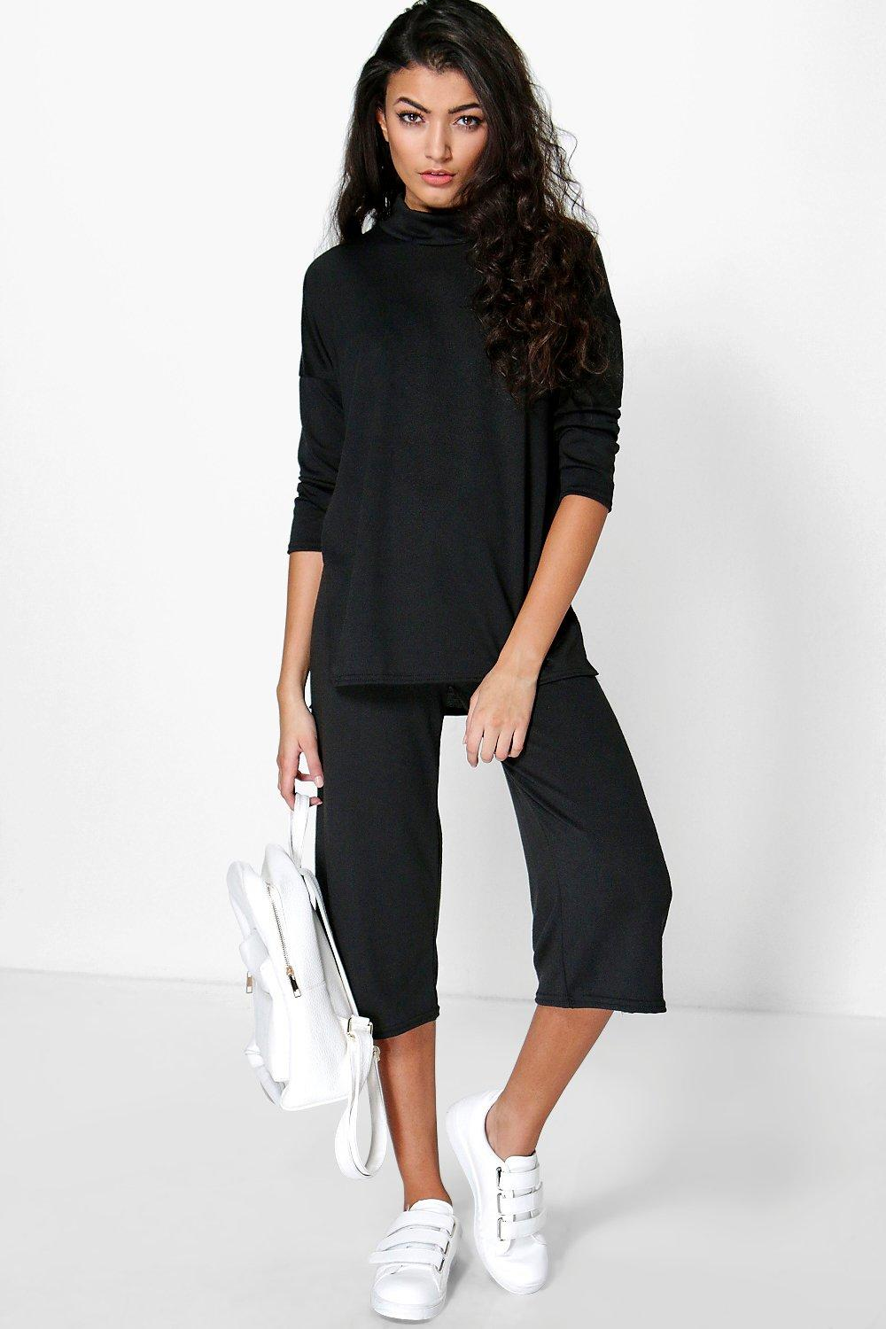Kirsty Side Split Jumper & Culotte Co-Ord Set