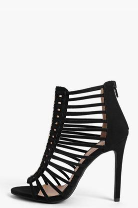 Freya Multi Strap and Stud Gladiator Heel