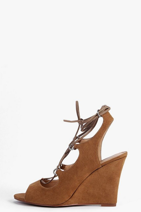 Lydia Ghillie Slingback Wedge