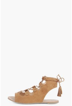 Abbie Open Back Ghillie Sandal