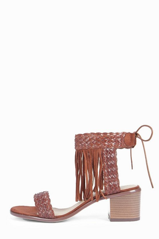 Georgia fringe Two Part Block Heel