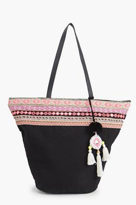 Lacey Mirrored Embroidery Shopper Bag