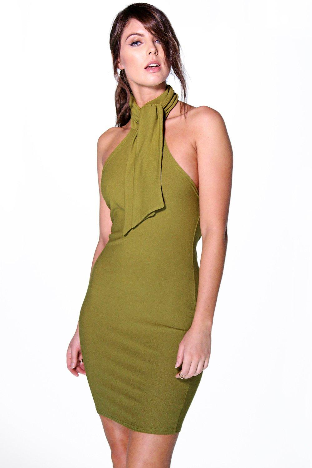 Debbie Tie Neck Bodycon Dress