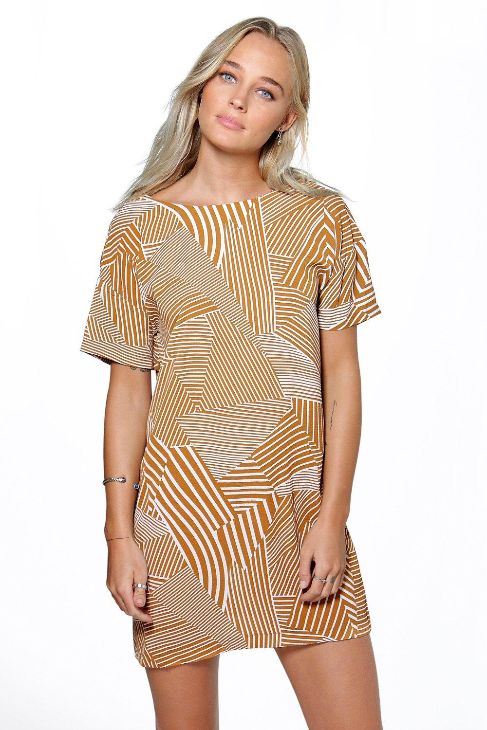 Natasha Mixed Stripe Shift Dress