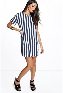 Sarah Striped Shirt Dress