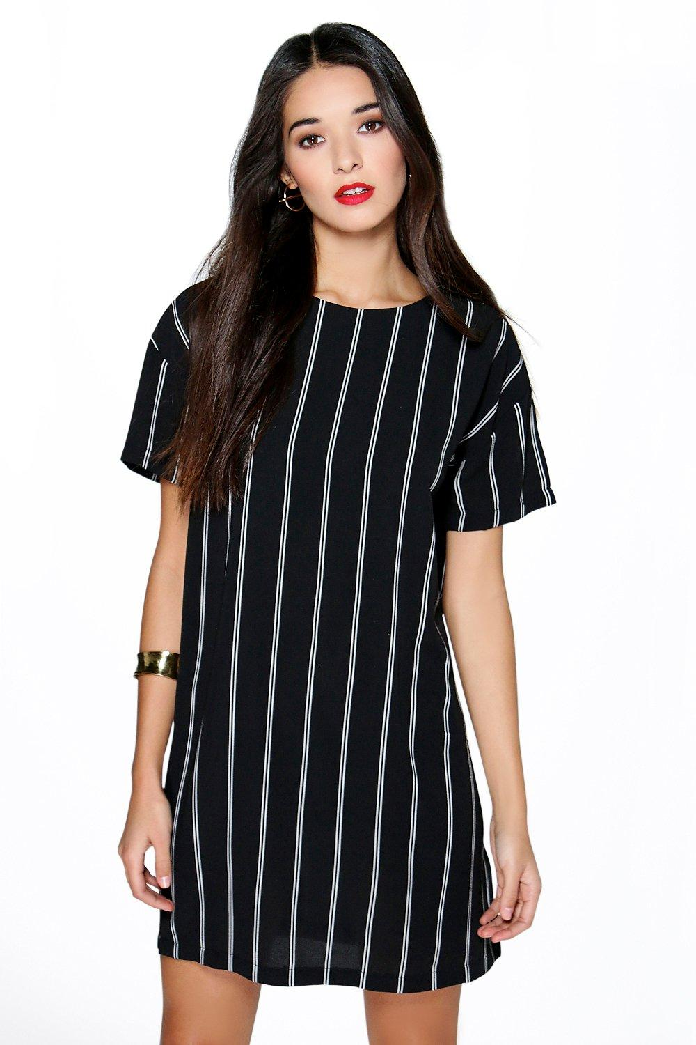 Tanya Vertical Stripe Shift Dress
