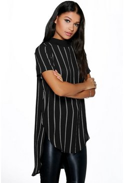 Emma Stripe Split Side Tunic