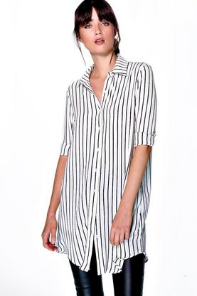 Aine Striped Button Through Woven Shirt