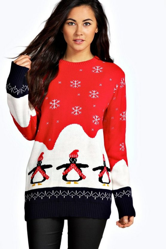 Willow Penguin Christmas Jumper