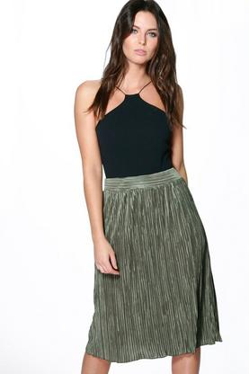Imogen Pleated Full Midi Skirt
