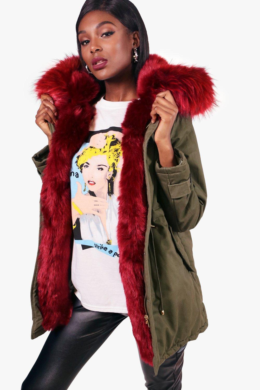 Faux Fur Coat With Hood Womens - Tradingbasis