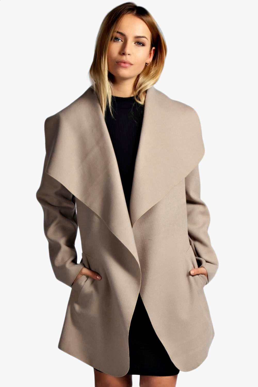 Abigail Belted Waterfall Coat