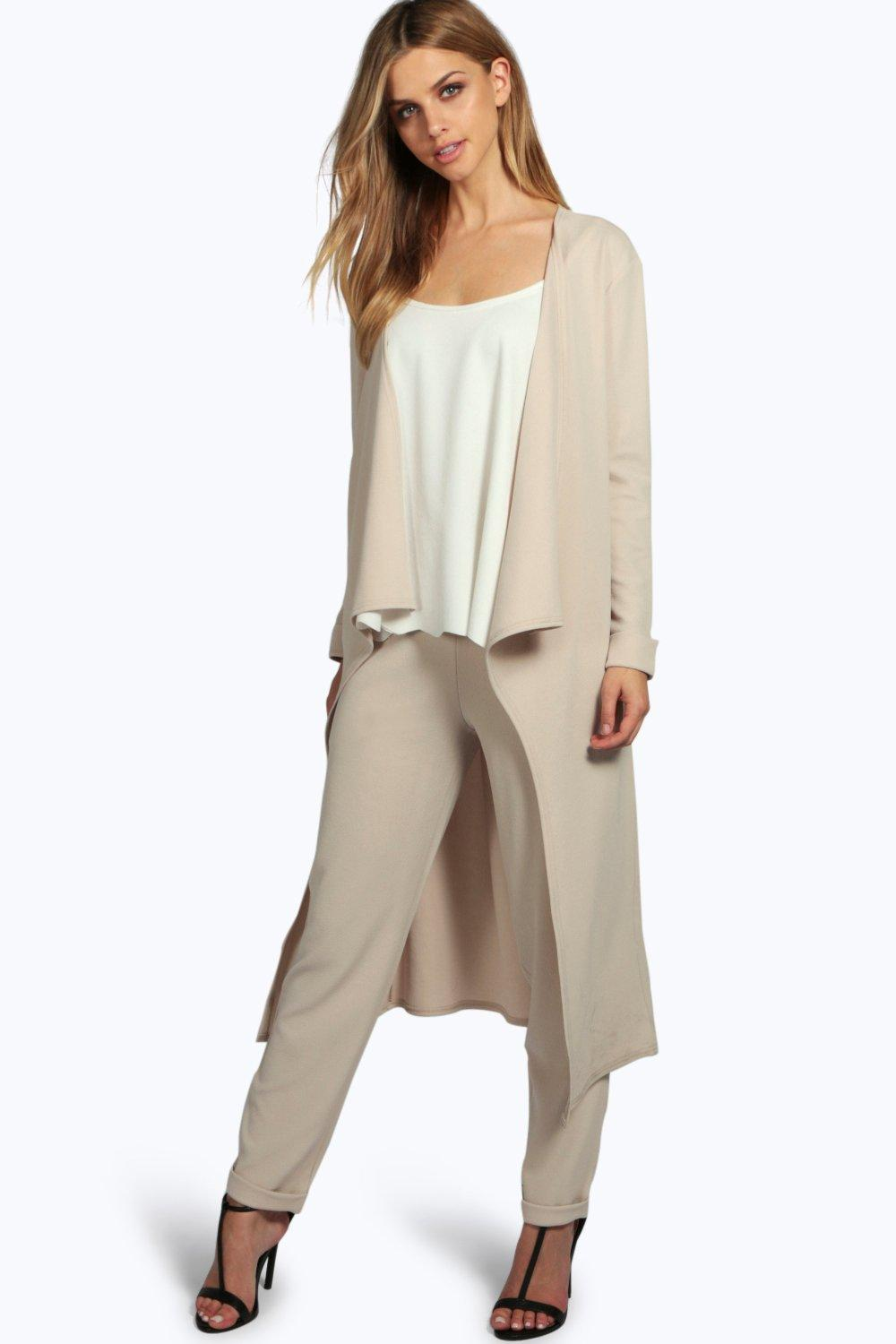 Lili Draped Duster & Tapered Trouser Co-Ord Set