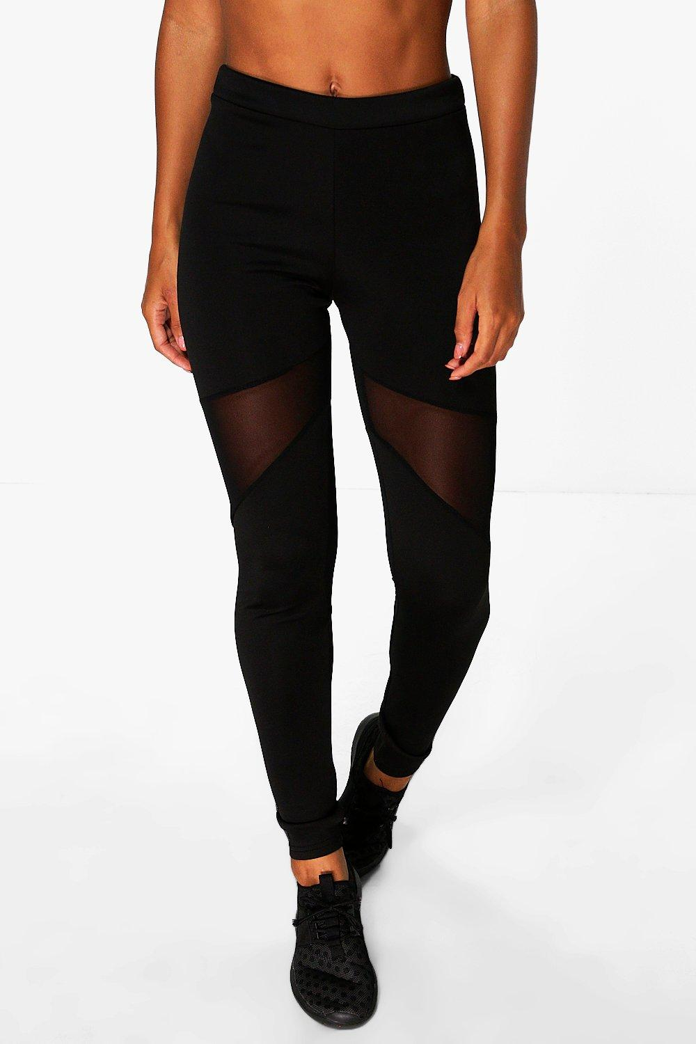 Emma Fit Mesh Panel Sports Running Legging at boohoo.com