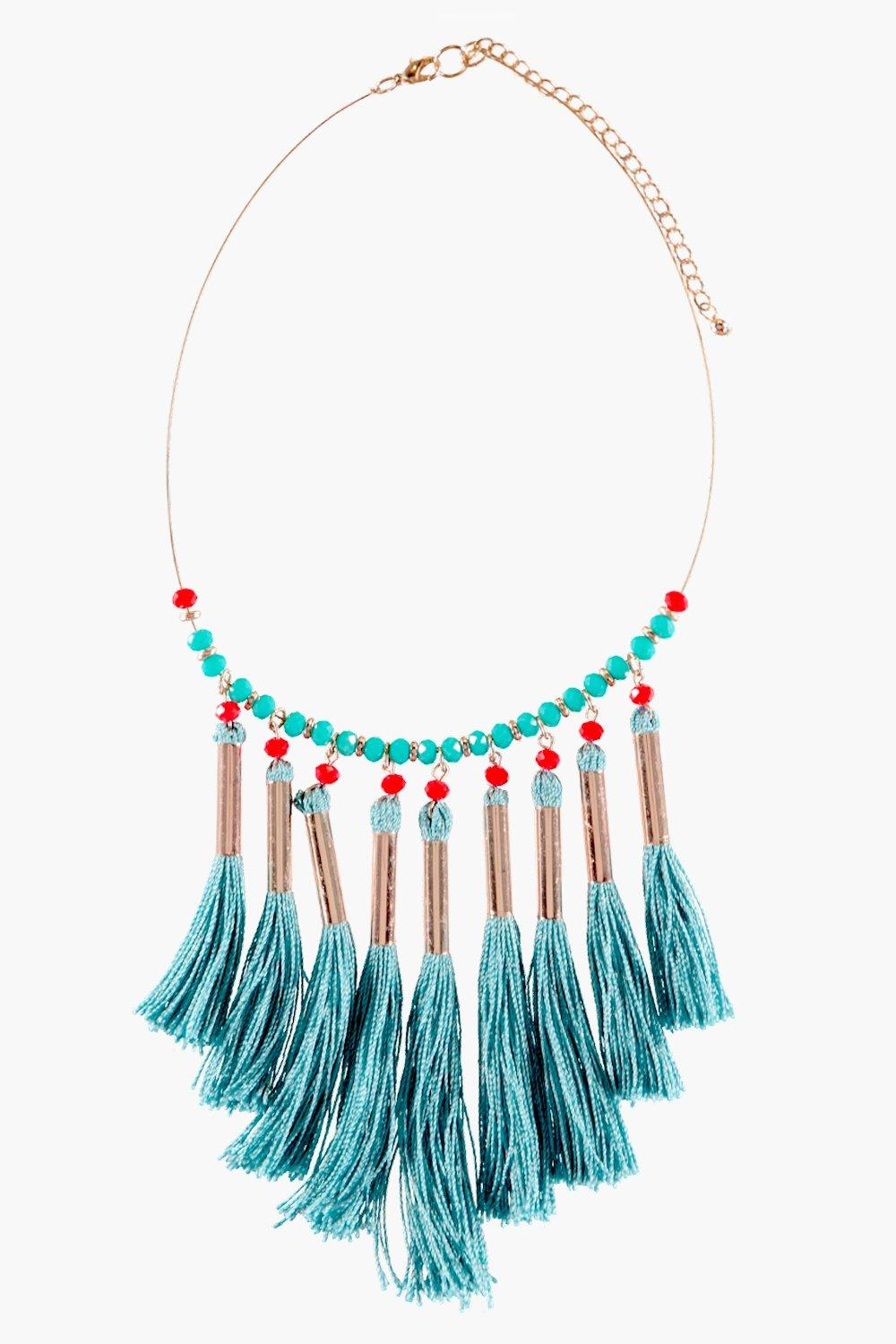 Leila Tassel Band Necklace
