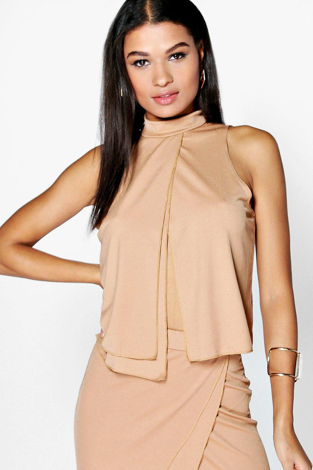 Evie Layered High Neck Top