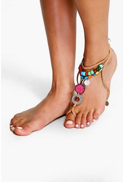 Lydia Beaded Foot Harness