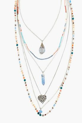 Kaya Multi Bead Layered Necklace