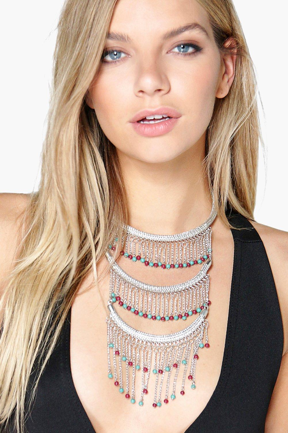 Boutique Ava Beaded Choker Necklace