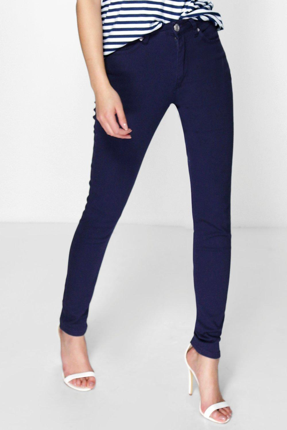 Amy 5-Pocket High Rise Navy Skinny Jeans