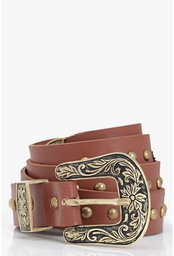 Angel Western Buckle Belt