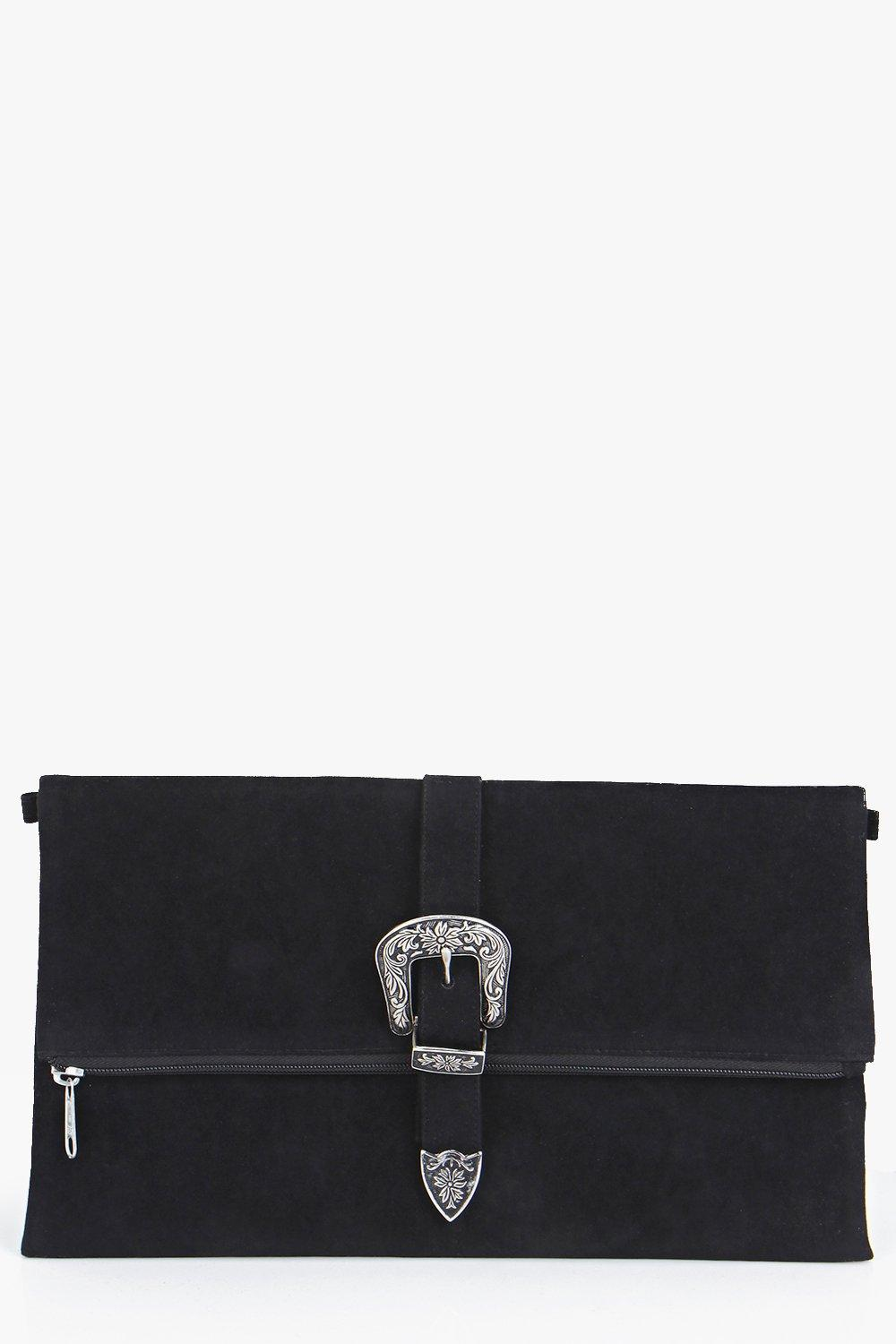 Iris Western Buckle Fold Over Clutch Bag