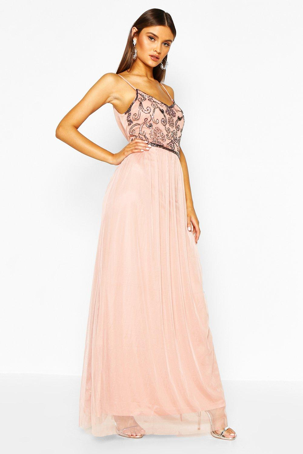 Lisa Boutique Embellished Prom Maxi Dress