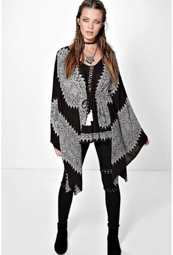 Moya Placement Print Oversized Tunic