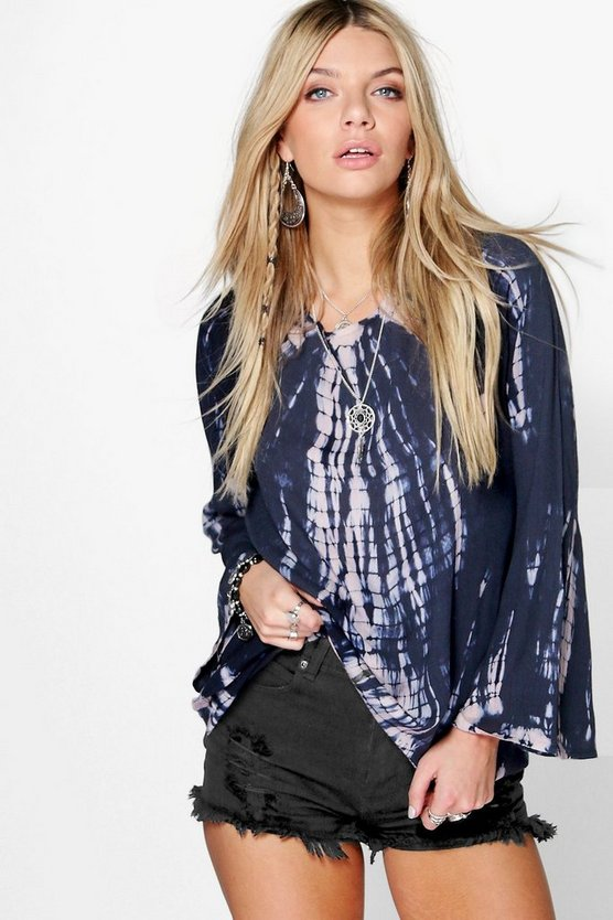 Hallie Tie Dye Low Back Woven Tunic