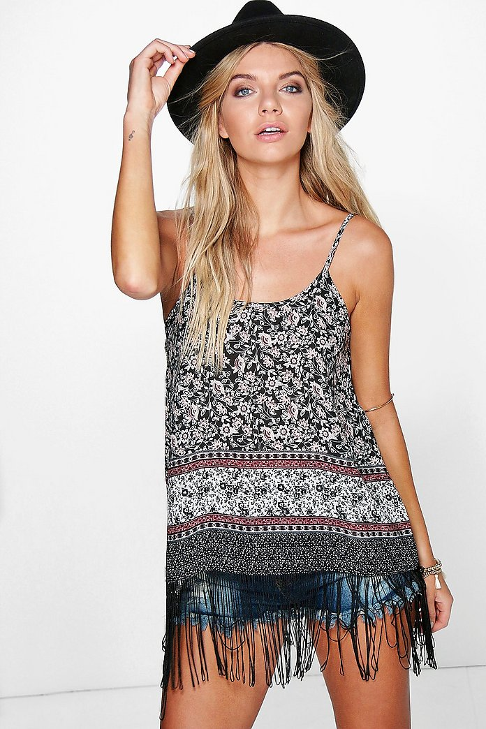 Mandy Fringed Woven Cami