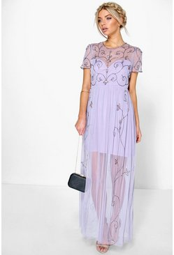 Corine Boutique Embellished Maxi Dress