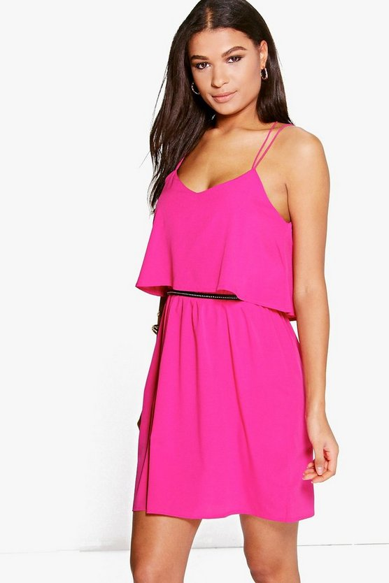 Lianne Cross Back Frill Sundress