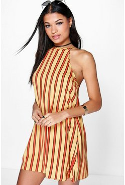 Alaia Striped Swing Dress
