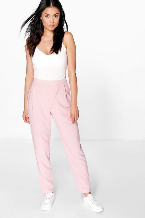 Louise Wrap Front Woven Trouser