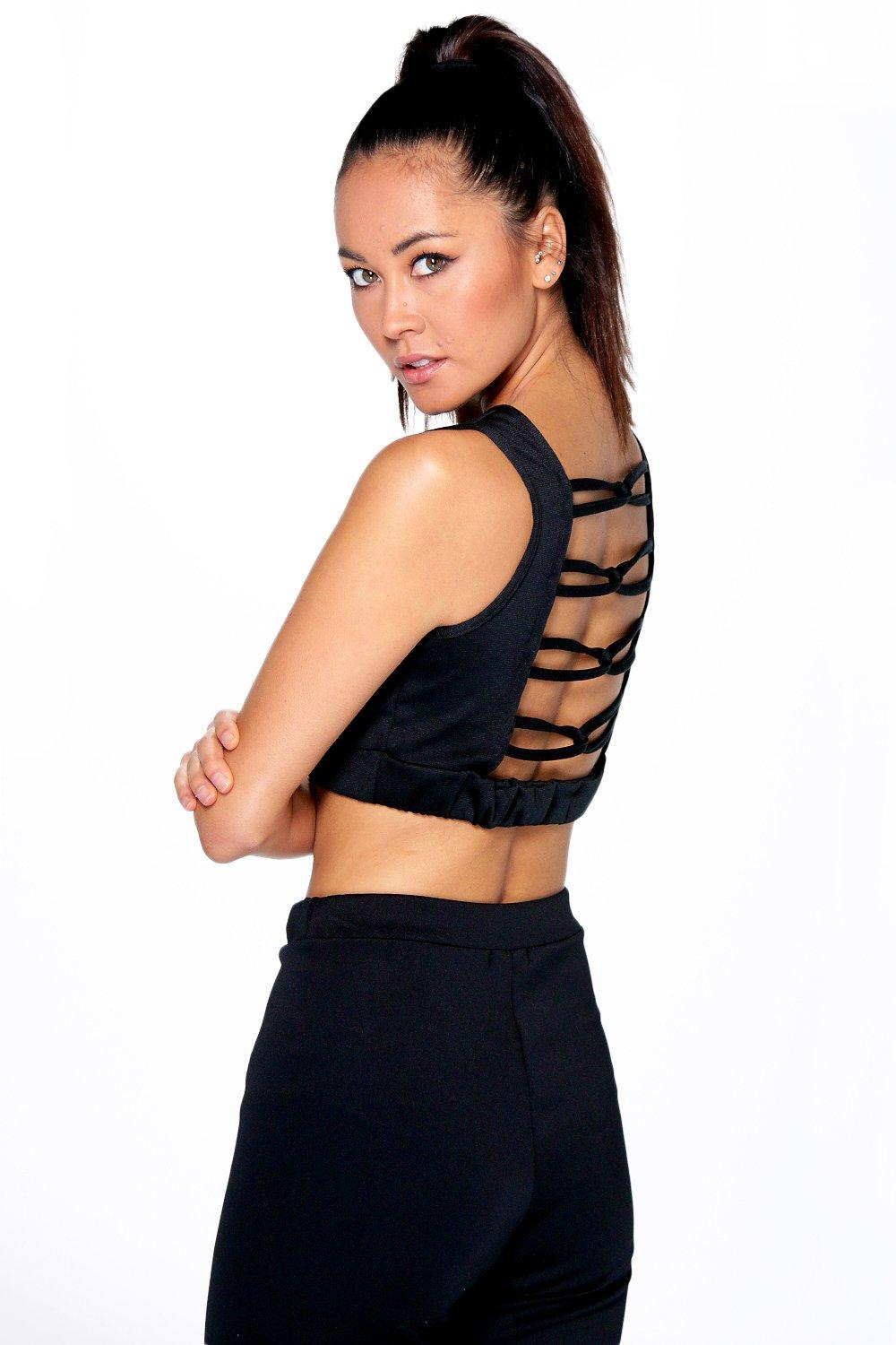 Madison Twist Back Crop Racer Vest