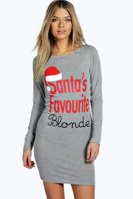 Santa's Favourite Blonde Bodycon Christmas Dress