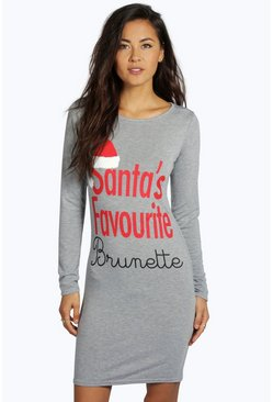 Cora Santa's Favourite Brunette Christmas Dress