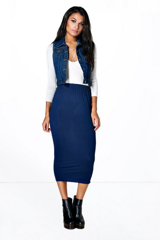 Imogen Basic Viscose Longline Skirt