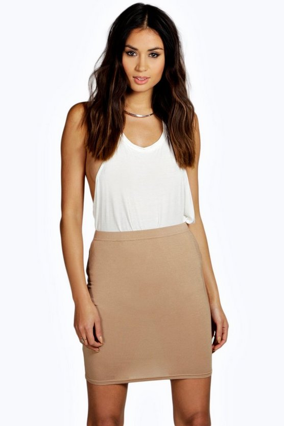 Bella Basic Jersey Mini Skirt