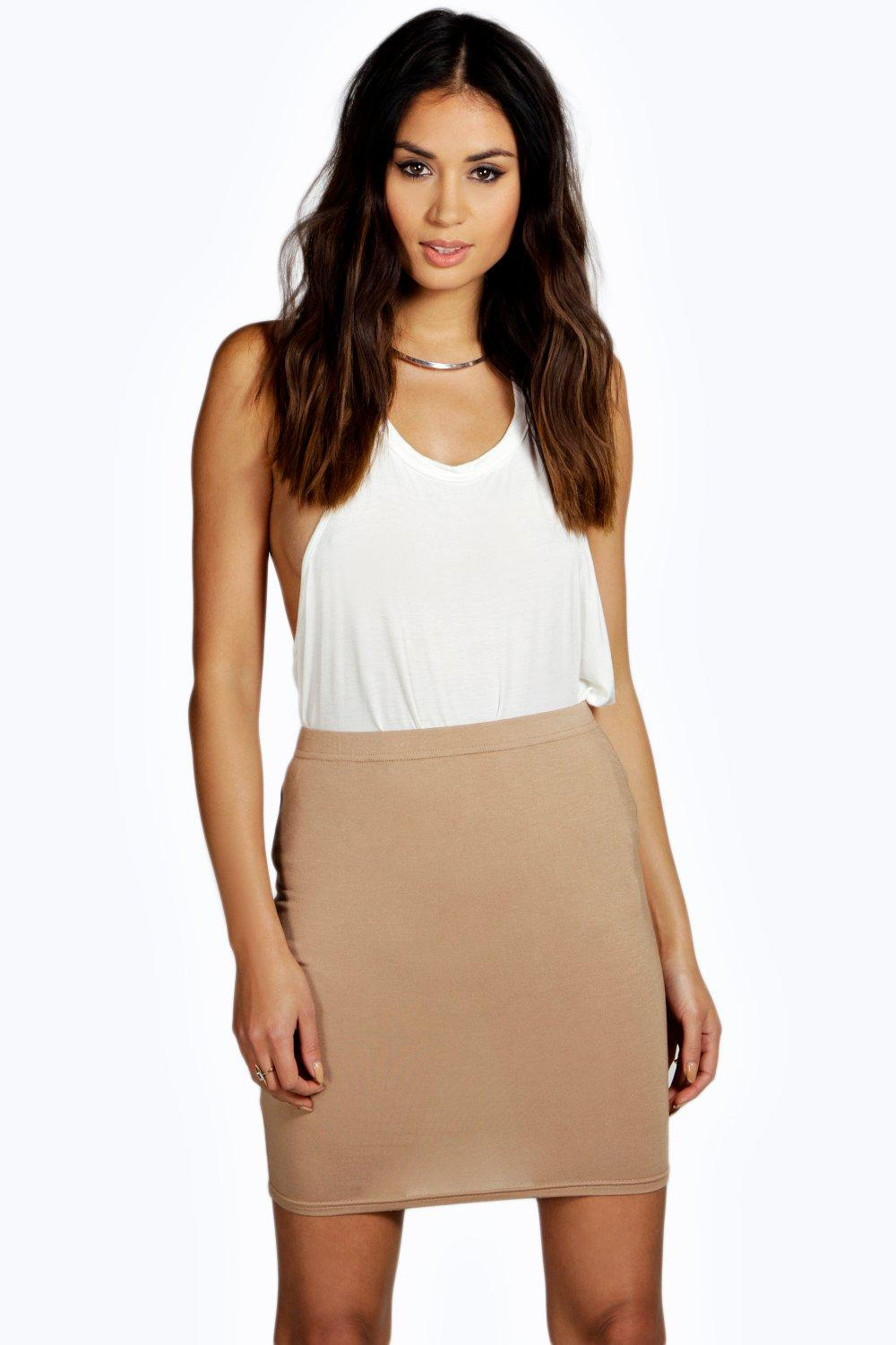 Bella Basic Viscose Mini Skirt